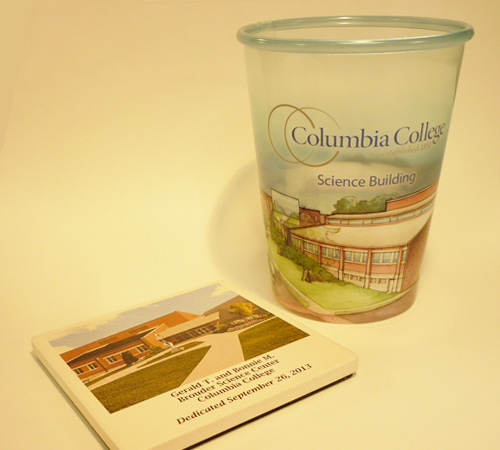 CC Cup and Coaster of Science Building