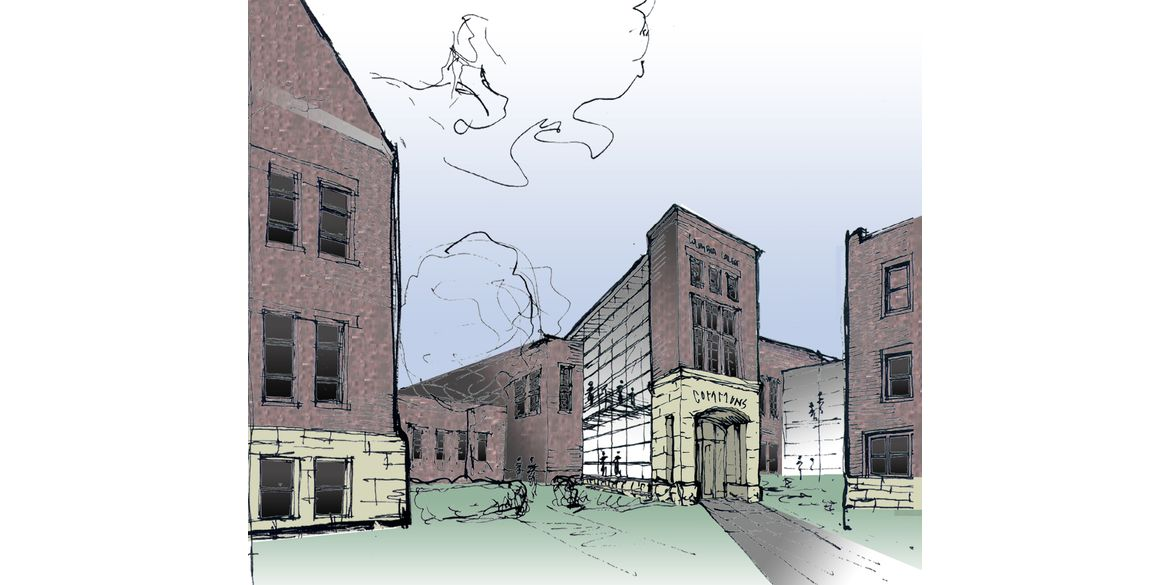 Columbia College – Atkins Holman Student Commons – Sketch – RF