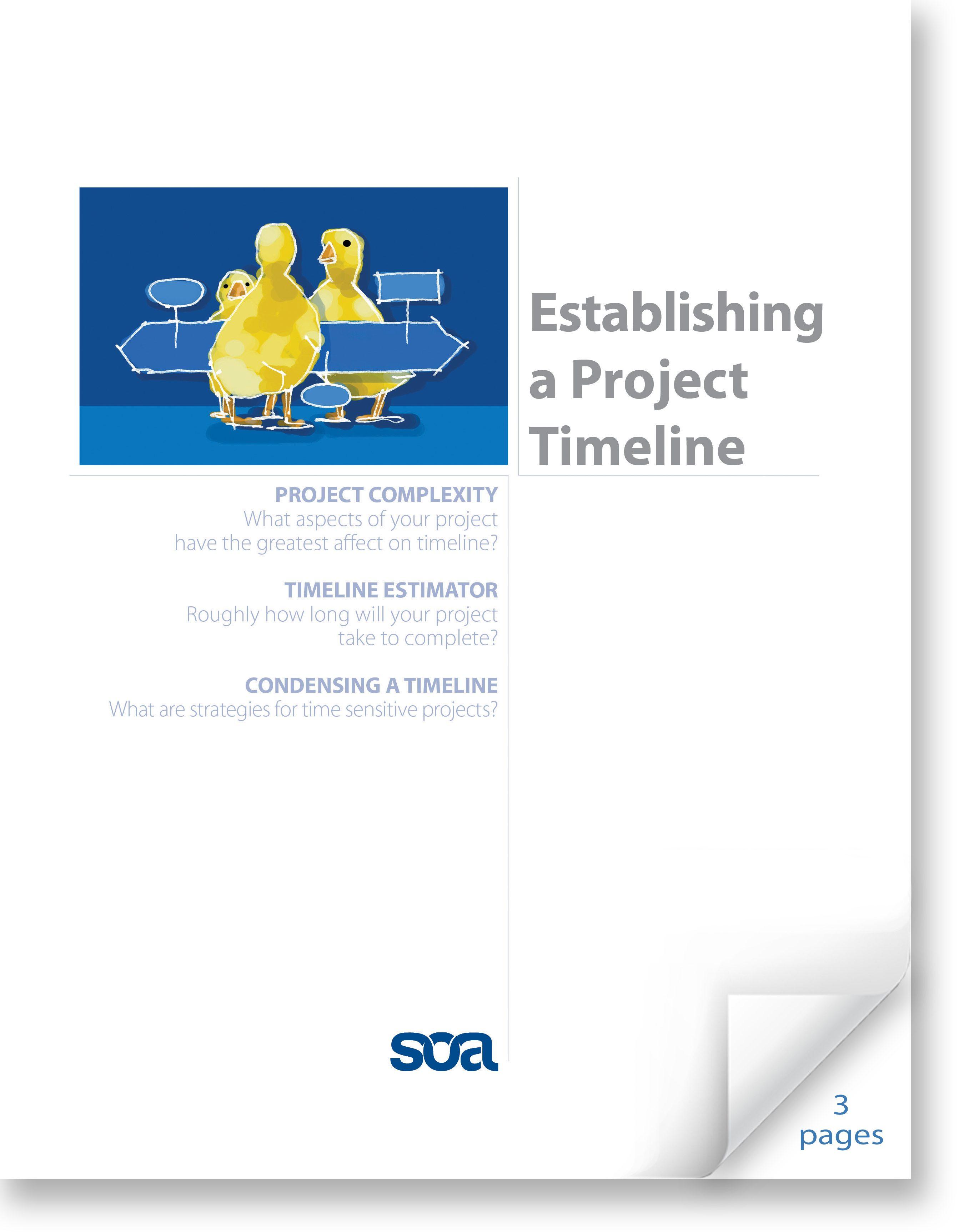 Establishing a Project Timeline Screenshot